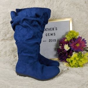 Alanis Wide Calf Blue Boot By Comfortview size 9WW